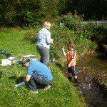 """Bei den """"Olper Natouren"""" überprüften die Teilnehmer die Wasserqualität des Neuenkleusheimer Baches. Das Ergebnis kann sich sehen lassen."""
