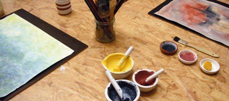 Malen mit Pflanzenfarben – eine Einführung