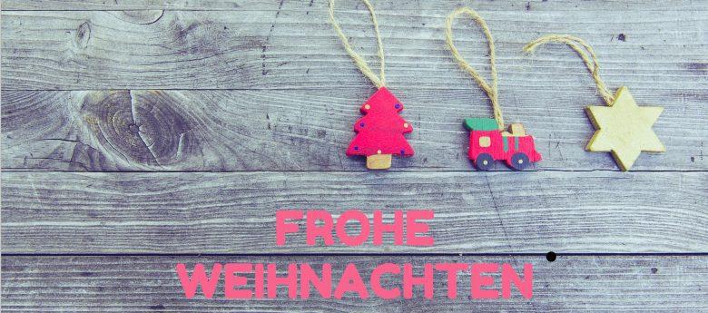 Wir wünschen Ihnen frohe Weihnachten und geruhsame Feiertage