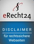 eRecht24 – Disclaimer – für rechtssichere Webseiten